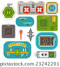 Helicopters landing vector set. 23242201