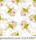 Seamless pattern chinese noodles box 23243907