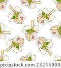 Seamless pattern color chinese noodles box 23243909