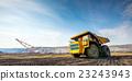 Big yellow mining truck 23243943