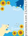 北極熊 企鵝 夏季賀卡 23246237