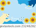 北極熊 企鵝 夏季賀卡 23246282