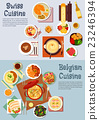 Worldwide popular dishes of swiss, belgian cuisine 23246394