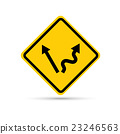 Yellow traffic sign - easy or tough 23246563
