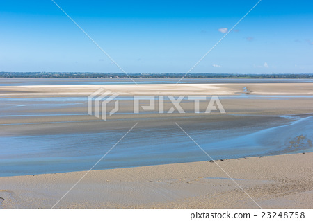 Mont Saint Michel see bay during the low tide 23248758