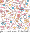 Candies Seamless Pattern Hand Drawn 23249933