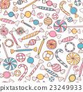 Candies Seamless Pattern Hand Drawn 23249933