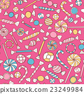 Sweets Colorful Seamless Pattern Hand Drawn 23249984
