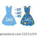 Summer sale banner with dresses for women. 23251254