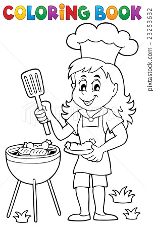 Coloring book barbeque theme 2 23253632