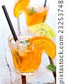 Orange lemonade with mint. 23253748