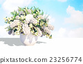 Jasmine, bouquet, in, a, white, vase, on, a, white 23256774