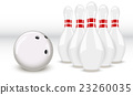 bowling ball and pins 23260035
