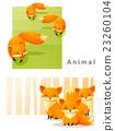 Animal background with Foxes 2 23260104