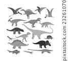 vector, dinosaur, dino 23261070