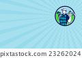 Business card Golfer Golf Club Shoulders Circle  23262024