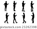 silhouette of man use phone 23262398
