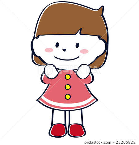 可愛的小女孩微笑全身 23265925