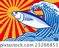 Bonito and wave big fishing flag 23266853