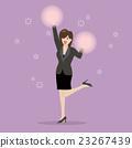 Business woman cheerleader 23267439