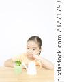 女孩 觀葉植物 室內盆栽 23271793