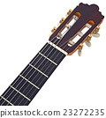 Headstock guitar with tuning-pegs, close view 23272235