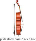 Cello string musical equipment, side view 23272342