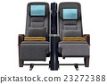 Aircraft chairs, front view 23272388