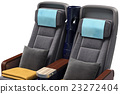 Airplane passenger seats, close view 23272404