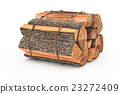 Bunch firewood stack chopped 23272409