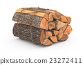 Bunch firewood stack chopped 23272411