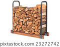 Firewood stack metal rack 23272742