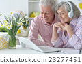 laptop, senior, couple 23277451
