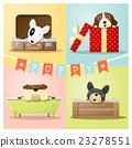 Set of cute dog background 23278551