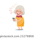Happy Old Woman Listen the Music 23278868