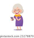 Happy Old Woman Take a Selfie 23278870