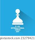 international chess day background . vector chess 23279421