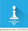 international chess day background . vector chess 23279423