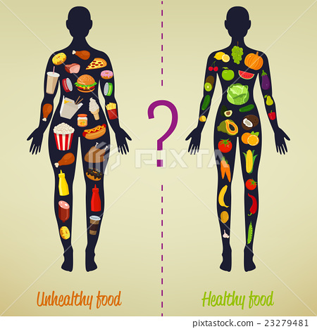 Healthy lifestyle concept. Choose what you eat.  23279481