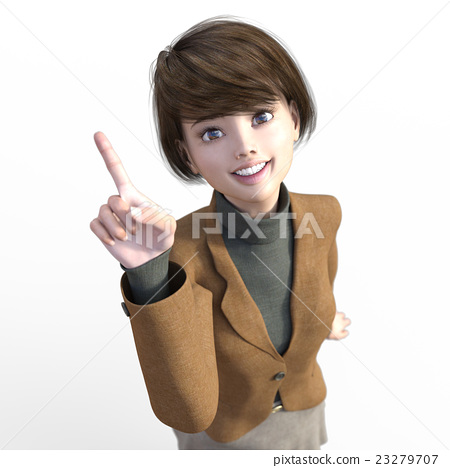 Female overhead viewing perming3DCG Illustration material 23279707