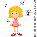 object, girl, mosquito 23281059