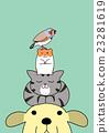 动物 重叠 堆起 23281619