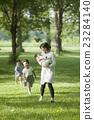 公园 母子 鲜绿 23284140