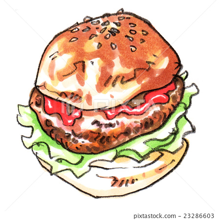 Hamburger illustration 23286603