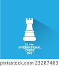 international chess day background . vector chess 23287463