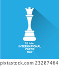 international chess day background . vector chess 23287464