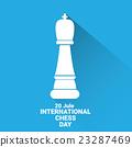 international chess day background . vector chess 23287469