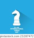 international chess day background . vector chess 23287472
