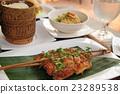 อาหารเวียดนามไก่ย่างหญ้า 23289538
