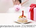 วันเกิดวันเกิด (ของขวัญเค้กเด็กทารกปาร์ตี้เด็กผู้หญิง 1 ปี 1 ปี) 23290837